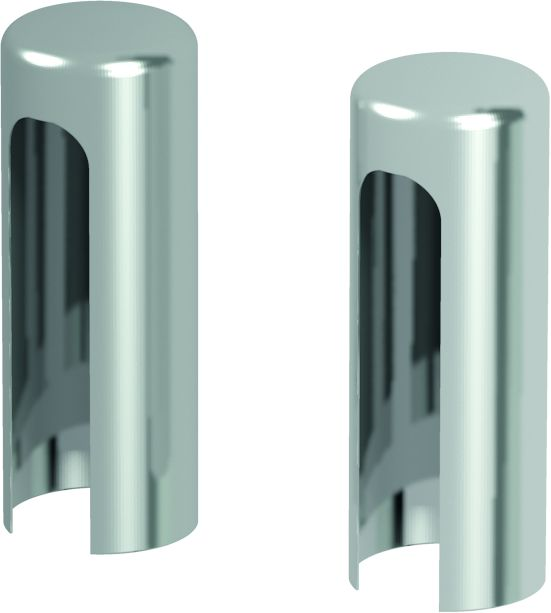 Covers for hinges for exterior doors (set per one hinge)