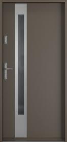 Външни входни врати PVC Сиво