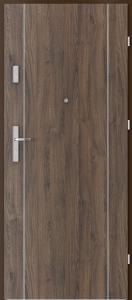 Вътрешни входни врати AGATE Plus Marquetry 1 Червен дъб
