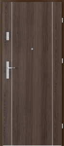 Вътрешни входни врати AGATE Plus Marquetry 1 Дъб Хавана