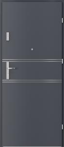 Полски интериорни врати AGATE Plus Marquetry 4 Антрацитен HPL CPL