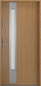 Външни входни врати PVC Дървесно 1