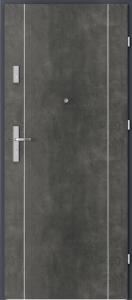 Вътрешни входни врати AGATE Plus Marquetry 1 Тъмен бетон