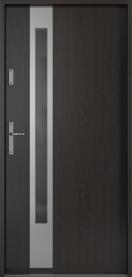 Външни входни врати PVC Черно