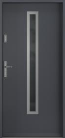 Външни входни врати антрацита (RAL 7024)