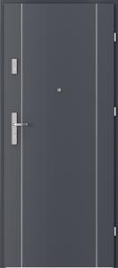 Вътрешни входни врати AGATE Plus Marquetry 1 Антрацитен HPL CPL