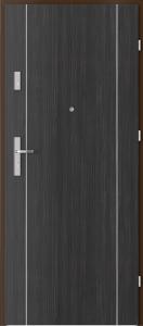 Вътрешни входни врати AGATE Plus Marquetry 1 Структура Тъмна