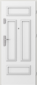 Вътрешни входни врати AGATE Plus Frame 2 Бял Дъб RAL 9016