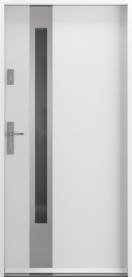 Външни входни врати PVC Бяло